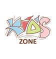 kid zone logo logotype emblem lettering design vector image