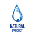 logo of natural product vector image