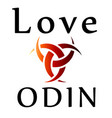 love odin- symbol of the horns of odin a satanist vector image vector image