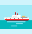 marine liner icon colorful vector image vector image