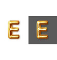 metallic gold alphabet letter symbol - e vector image