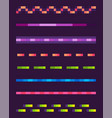 neon lines set space pixel game shoot