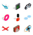 occupation icons set isometric style vector image vector image