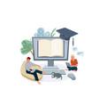 online home school education vector image