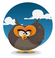 owl cartoon character vector image