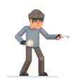 picklock housebreaker thieves keys flashlight hand vector image vector image