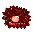 pig in chocolate vector image vector image