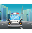 Police car on the freeway vector image