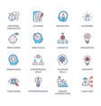 qualities a leader and skills vector image vector image