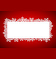 red christmas gift card merry christmas snowflakes vector image vector image