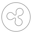 ripple icon black color in round circle vector image