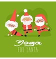 Santa Claus doing yoga vector image vector image