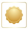 Seal award gold icon vector image vector image