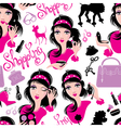 Seamless pattern for fashion Design glamor lovely vector image vector image