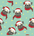seamless pattern with image of a funny cartoon vector image vector image