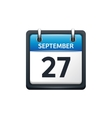 September 27 Calendar icon vector image vector image