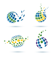 set abstract globe icons vector image