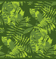 shabby jungle camouflage seamless pattern vector image