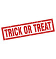 Square grunge red trick or treat stamp