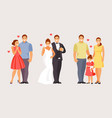 stages of creating a family vector image