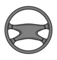 steering wheelcar single icon in cartoon style vector image vector image