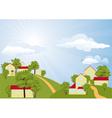 Summer rural landscape vector image vector image