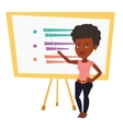 Teacher or student standing in front of board vector image vector image
