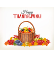 thanksgiving background with fresh vegetables vector image vector image