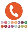 The phone icon Phone symbol Flat vector image vector image