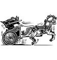 Viking Chariot vector image vector image