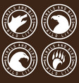 vintage labels with animals and birds negative vector image vector image