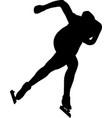 women speed skaters vector image vector image