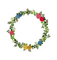 wreath decorated with roses and leaves isolated on vector image vector image